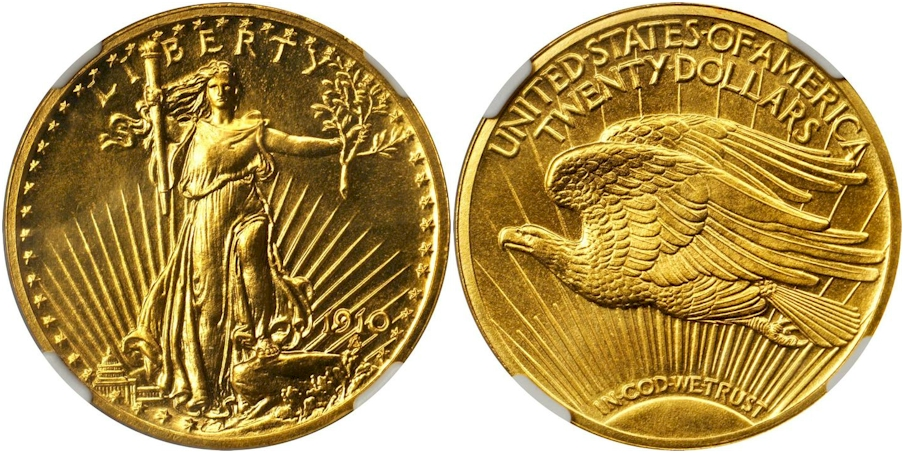 $20 St. Gaudens 1910 Proof