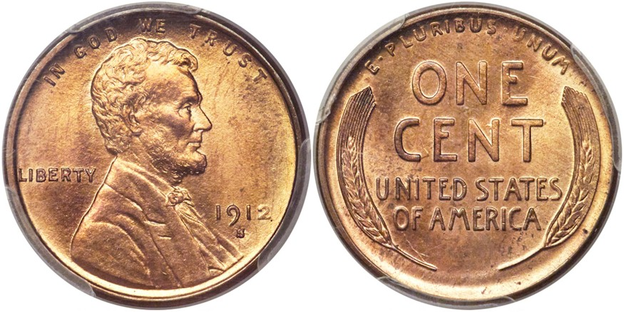 Lincoln Cents 1912 S RD