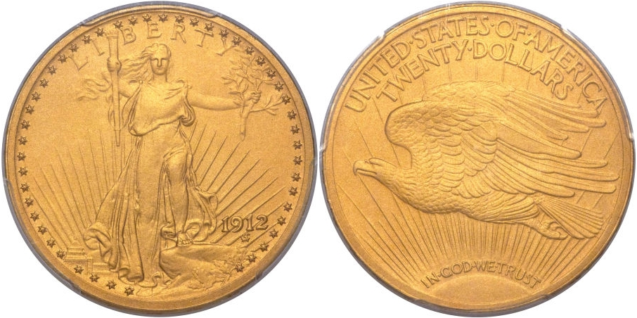 $20 St. Gaudens 1912 Proof