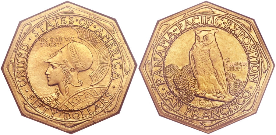 Gold Commemoratives 1915S Pan/Pac $50 Oct