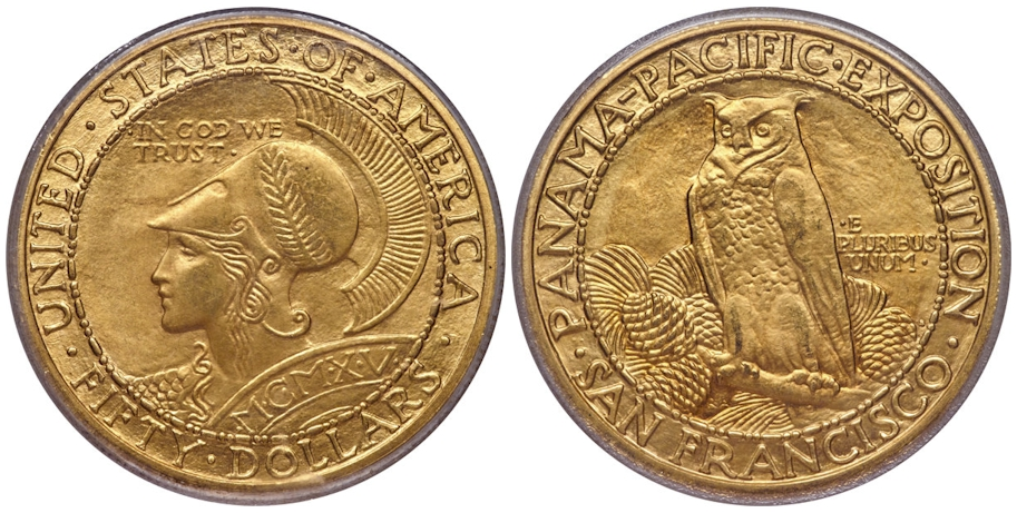 Gold Commemoratives 1915S Pan/Pac $50 Rd