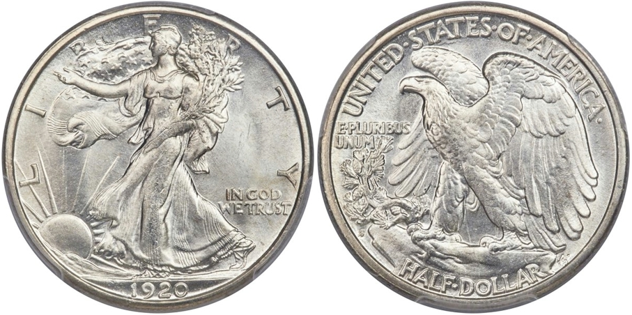 Walking Liberty Half Dollars 1920 S