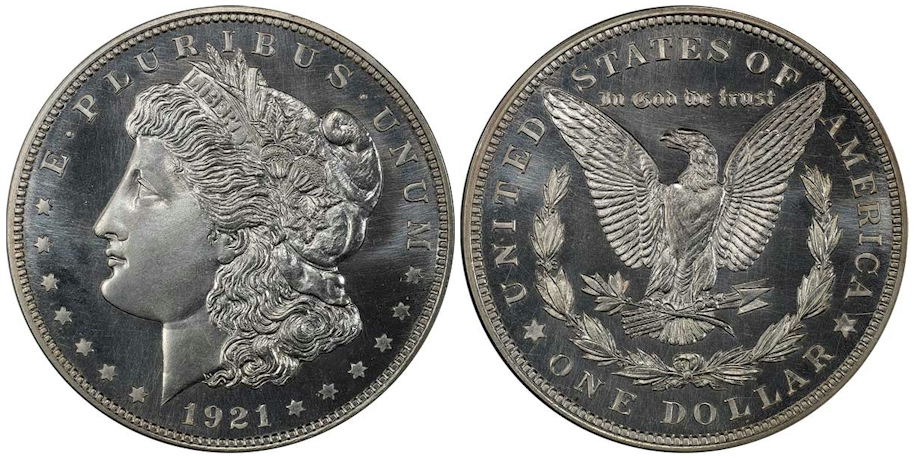 Proof Morgan Dollars 1921 Chapman