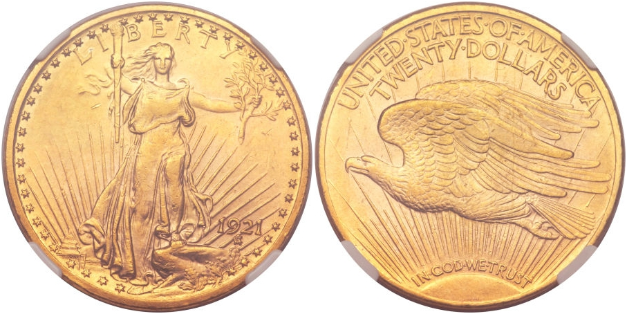$20 St. Gaudens 1921