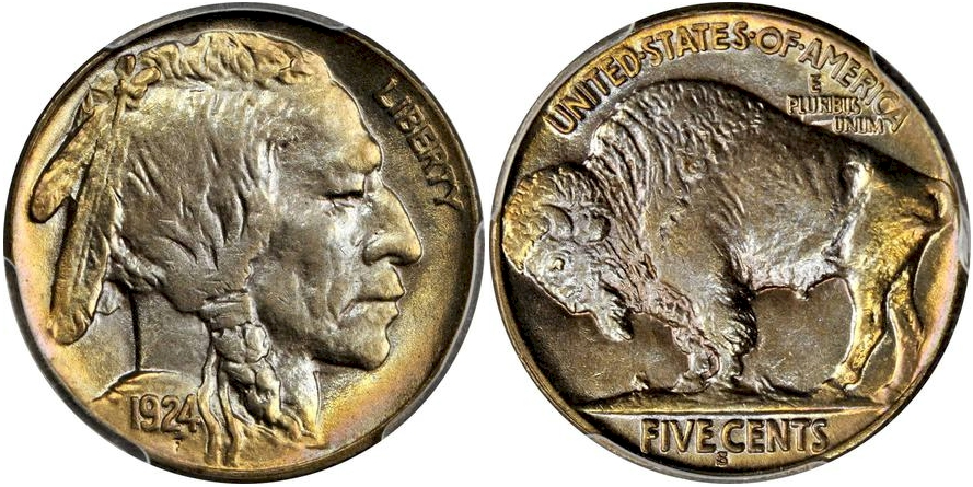 Buffalo Nickels 1924 S