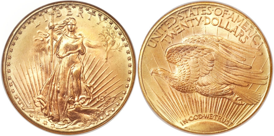 $20 St. Gaudens 1927 D
