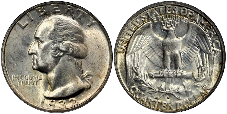 Washington Quarters 1932 D