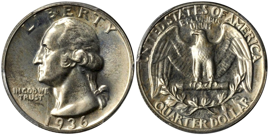 Proof Washington Quarters 1936