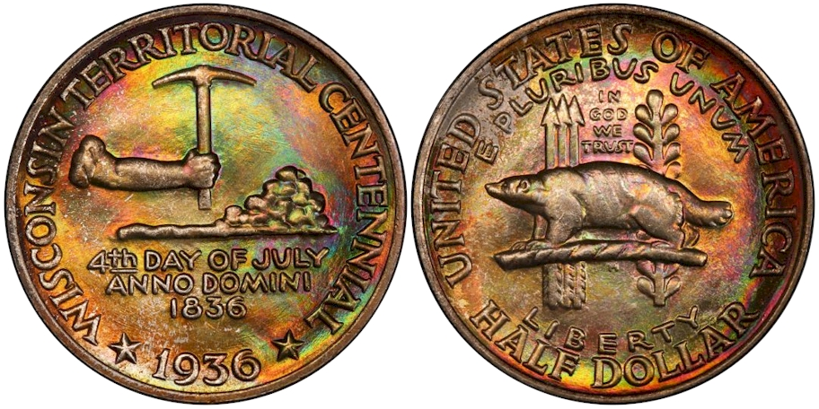 Silver Commemoratives 1936 Wisconsin