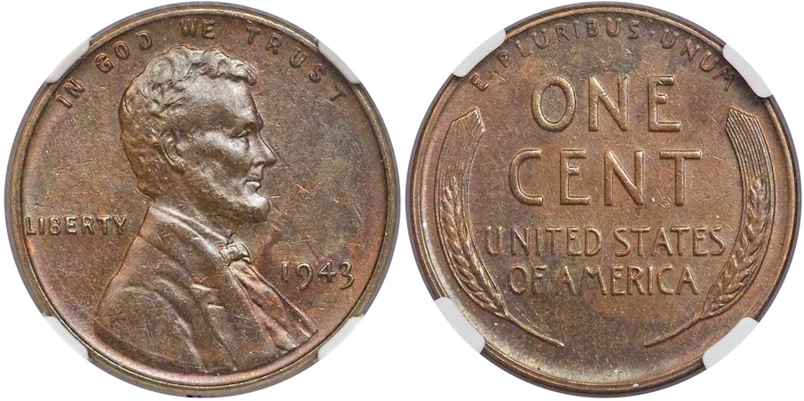 Modern Lincoln Cents 1943 Bronze