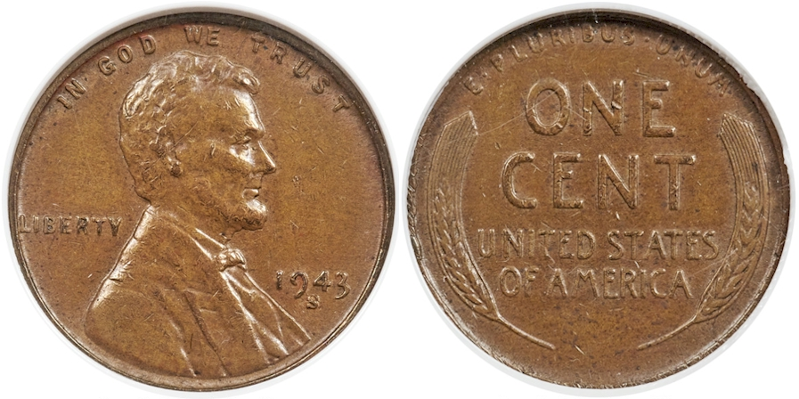 Modern Lincoln Cents 1943 S Bronze