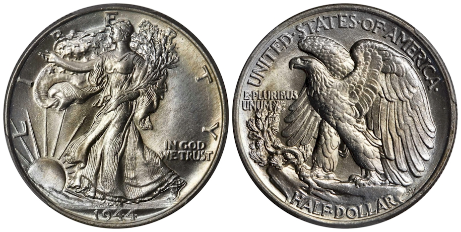 1944 Walking Liberty Half Dollar PCGS MS68 CAC