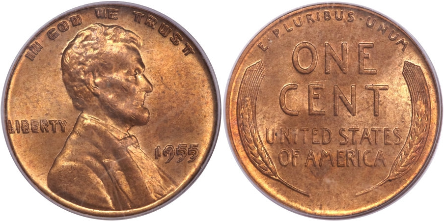 Modern Lincoln Cents 1955/55 RD