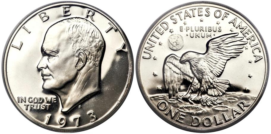 Eisenhower Dollars 1973 S Cl. Pr Deep Cam