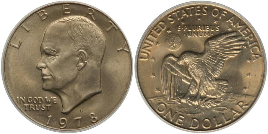 Eisenhower Dollars 1978 D