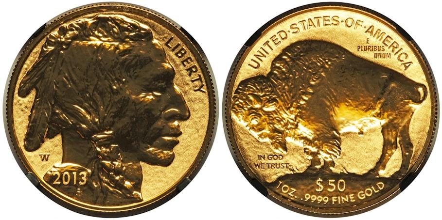 Modern Buffaloes 2013 W Buffalo $50 Gold Reverse Proof